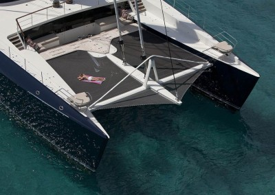 Catamaran Hemisphere available for private charter in the Caribbean